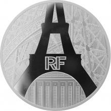 Stříbrná mince 5 Oz Nábřeží Seiny v Paříži Unesco 2014 Proof