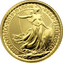 Zlatá investičná minca Britannia 1/10 Oz