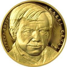 Zlatá půluncová medaile Karel Kryl 2014 Proof