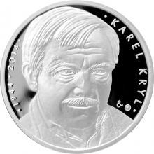 Stříbrná medaile Karel Kryl 2014 Proof