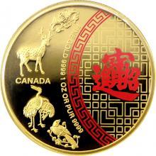 Zlatá mince Pět požehnání 1 Oz 2014 Proof
