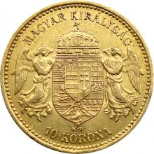 Zlatá mince Desetikoruna Františka Josefa I. Uherská ražba 1894