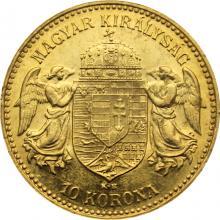 Zlatá minca Ďesaťkorunáčka Františka Jozefa I. Uhorská razba 1907