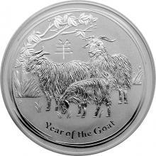 Stříbrná investiční mince Year of the Goat Rok Kozy Lunární 1 Oz 2015
