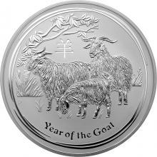 Stříbrná investiční mince Year of the Goat Rok Kozy Lunární 1 Kg 2015
