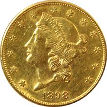 Zlatá mince American Double Eagle Liberty Head 1898