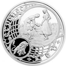 Stříbrná medaile Staroměstský orloj - Lev 2014 Proof