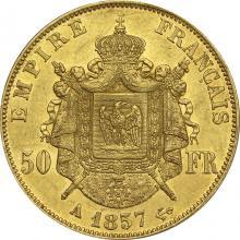 Zlatá mince 50 Frank Napoleon III. 1857 A
