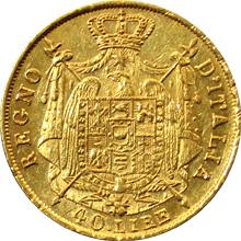 Zlatá mince 40 Lira Napoleon Bonaparte 1814
