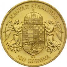 Zlatá mince Stokoruna Františka Josefa I. 1908 (novoražba)