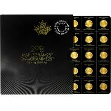Zlatá investičná minca Maplegram25 Maple Leaf 25 x 1 gram