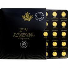 Zlaté investiční mince Maplegram25 Maple Leaf 25 x 1 gram