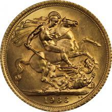 Zlatý Sovereign Kráľovná Alžbeta II. 1966