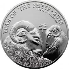 Stříbrná investiční mince Rok Ovce Lunární The Royal Mint 1 Oz 2015