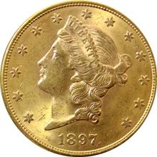 Zlatá mince American Double Eagle Liberty Head 1897