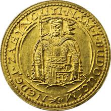 Zlatá mince Svatý Václav Jednodukát Československý 1934