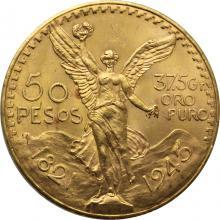 Zlatá mince 50 Peso Centenario 1921-1947
