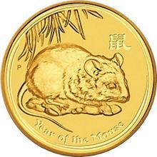 Zlatá investiční mince Year of the Mouse Rok Myši Lunární 1/4 Oz 2008