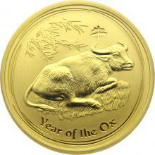 Zlatá investiční mince Year of the Ox Rok Buvola Lunární 1/2 Oz 2009