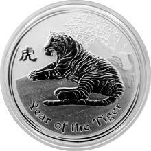 Strieborná investičná minca Year of the Tiger Rok Tigra Lunárny 1/2 Oz 2010
