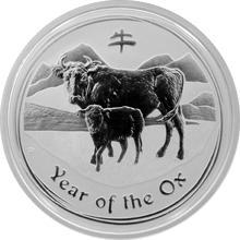 Stříbrná investiční mince Year of the Ox Rok Buvola Lunární 1/2 Oz 2009