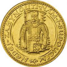 Zlatá mince Svatý Václav Jednodukát Československý 1936