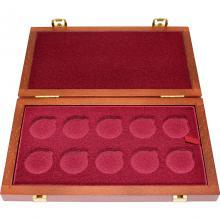 BEZ NÁPISU - Dřevěná krabička 10 x Au ČNB 28 mm