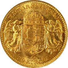 Zlatá mince Dvacetikoruna Františka Josefa I. Uherská ražba 1903