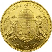 Zlatá minca Dvadsaťkorunáčka Františka Jozefa I. Uhorská razba 1903