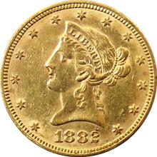 Zlatá mince 10 Dolar American Eagle Liberty Head 1882