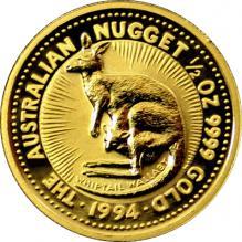 Zlatá investiční mince The Australian Nugget 1994 1/2 Oz