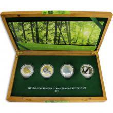 Panda Prestižní sada stříbrných mincí 2015 Proof