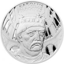 Stříbrná medaile Dějiny válečnictví - Karel Veliký 2015 Proof