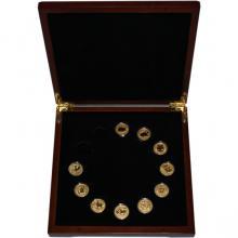 Luxusní sada 10 zlatých mincí 1/10 Oz Lunární série II. 2008 - 2019