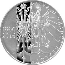 Strieborná minca 200 Kč Bitva u Hradce Králové 150. výročie 2016 Proof
