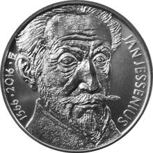 Strieborná minca 200 Kč Jan Jessenius 450. výročie narodenia 2016 Štandard