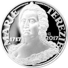 Stříbrná mince 200 Kč Marie Terezie 300. výročí narození 2017 Proof