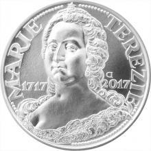 Strieborná minca 200 Kč Maria Terezia 300. výročie narodenia 2017 Štandard