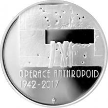 Stříbrná mince 200 Kč Operace Anthropoid 75. výročí 2017 Proof