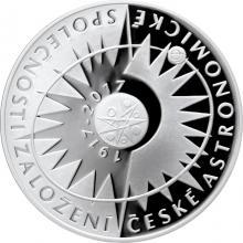 Strieborná minca 200 Kč Založenie Českej astronomickej spoločnosti 100. výročie 2017 Proof