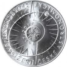 Strieborná minca 200 Kč Založenie Česke astronomicke spoločnosti 100. výroči 2017 Standard