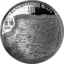 Stříbrná mince 200 Kč Vydání Klaudyánovy mapy 500. výročí 2018 Proof