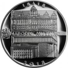 Strieborná minca 200 Kč Založenie Národného múzea 200. výročie 2018 Proof