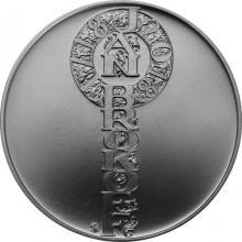 Strieborná minca 200 Kč Jan Brokoff 300. výročie úmrtia 2018 Štandard