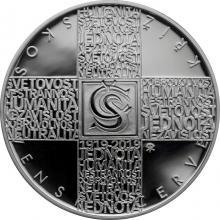 Stříbrná mince 200 Kč Založení Československého červeného kříže 100. výročí 2019 Proof
