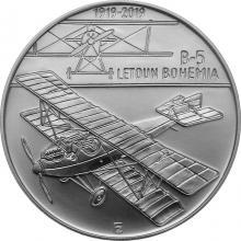 Strieborná minca 200 Kč Zostrojenie prvného letadla Bohemia B-5 100. výročia 2019 Štandard