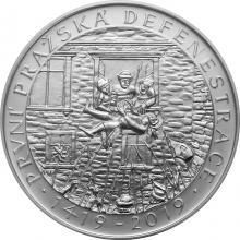 Stříbrná mince 200 Kč První pražská defenestrace 600. výročí 2019 Standard