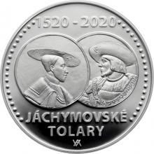 Stříbrná mince 200 Kč Zahájení ražby jáchymovských tolarů 500. výročí 2020 Proof