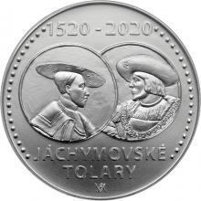 Stříbrná mince 200 Kč Zahájení ražby jáchymovských tolarů 500. výročí 2020 Standard