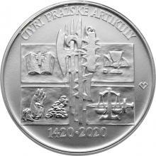 Stříbrná mince 200 Kč Vydání Čtyř pražských artikul 600. výročí 2020 Standard